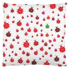 Beetle Animals Red Green Fly Large Cushion Case (two Sides)
