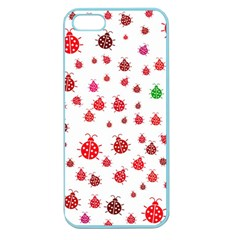 Beetle Animals Red Green Fly Apple Seamless Iphone 5 Case (color)