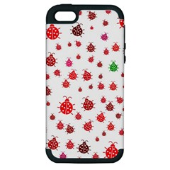 Beetle Animals Red Green Fly Apple Iphone 5 Hardshell Case (pc+silicone)