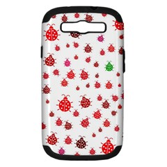 Beetle Animals Red Green Fly Samsung Galaxy S III Hardshell Case (PC+Silicone)