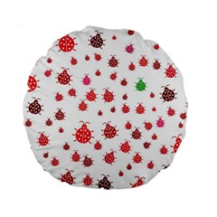 Beetle Animals Red Green Fly Standard 15  Premium Round Cushions
