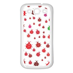 Beetle Animals Red Green Fly Samsung Galaxy S3 Back Case (White)