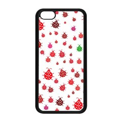 Beetle Animals Red Green Fly Apple Iphone 5c Seamless Case (black)