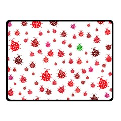 Beetle Animals Red Green Fly Double Sided Fleece Blanket (Small)