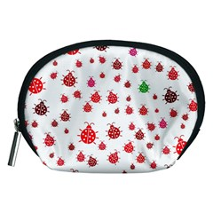Beetle Animals Red Green Fly Accessory Pouches (Medium)