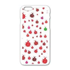 Beetle Animals Red Green Fly Apple Iphone 6/6s White Enamel Case