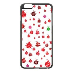 Beetle Animals Red Green Fly Apple Iphone 6 Plus/6s Plus Black Enamel Case