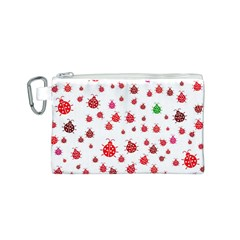 Beetle Animals Red Green Fly Canvas Cosmetic Bag (s)