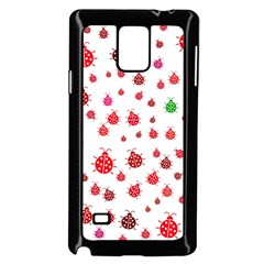 Beetle Animals Red Green Fly Samsung Galaxy Note 4 Case (black)