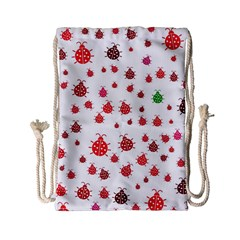 Beetle Animals Red Green Fly Drawstring Bag (Small)