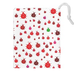 Beetle Animals Red Green Fly Drawstring Pouches (xxl)