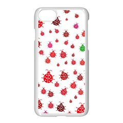 Beetle Animals Red Green Fly Apple Iphone 7 Seamless Case (white)