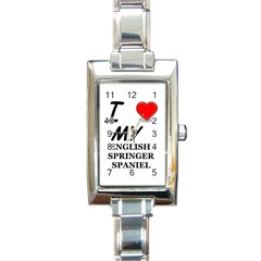 Eng Spr Sp Love Rectangle Italian Charm Watch