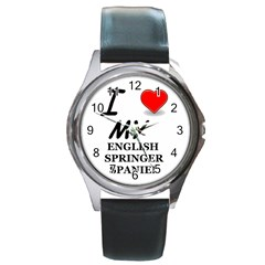 Eng Spr Sp Love Round Metal Watch
