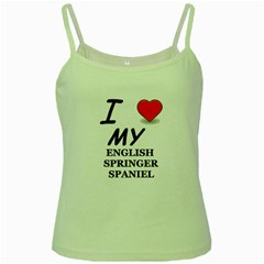 Eng Spr Sp Love Green Spaghetti Tank