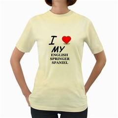 Eng Spr Sp Love Women s Yellow T-Shirt