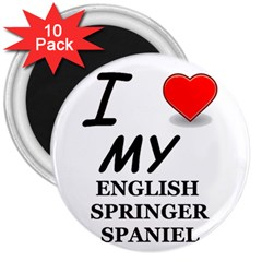 Eng Spr Sp Love 3  Magnets (10 pack)