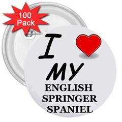 Eng Spr Sp Love 3  Buttons (100 pack)