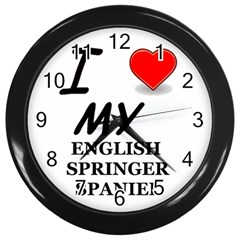 Eng Spr Sp Love Wall Clocks (Black)