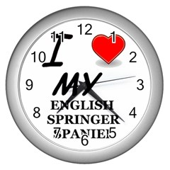 Eng Spr Sp Love Wall Clocks (Silver)