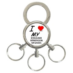 Eng Spr Sp Love 3-Ring Key Chains