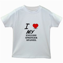Eng Spr Sp Love Kids White T-Shirts
