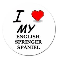 Eng Spr Sp Love Magnet 5  (Round)