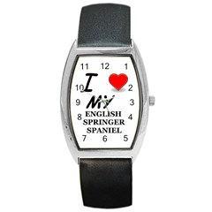 Eng Spr Sp Love Barrel Style Metal Watch