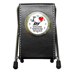 Eng Spr Sp Love Pen Holder Desk Clocks