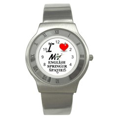 Eng Spr Sp Love Stainless Steel Watch