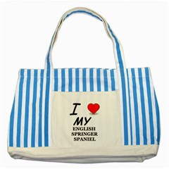 Eng Spr Sp Love Striped Blue Tote Bag