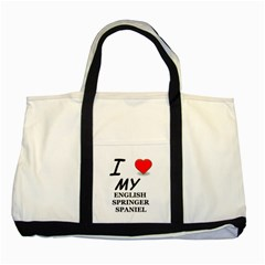 Eng Spr Sp Love Two Tone Tote Bag