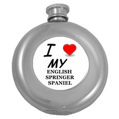 Eng Spr Sp Love Round Hip Flask (5 oz)