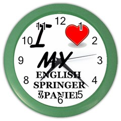 Eng Spr Sp Love Color Wall Clocks
