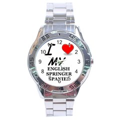 Eng Spr Sp Love Stainless Steel Analogue Watch