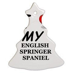 Eng Spr Sp Love Christmas Tree Ornament (Two Sides)