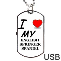 Eng Spr Sp Love Dog Tag USB Flash (One Side)