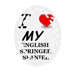Eng Spr Sp Love Oval Filigree Ornament (Two Sides)
