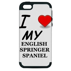Eng Spr Sp Love Apple iPhone 5 Hardshell Case (PC+Silicone)