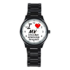 Eng Spr Sp Love Stainless Steel Round Watch