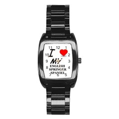 Eng Spr Sp Love Stainless Steel Barrel Watch
