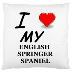 Eng Spr Sp Love Large Flano Cushion Case (Two Sides)