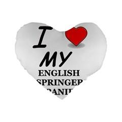 Eng Spr Sp Love Standard 16  Premium Flano Heart Shape Cushions
