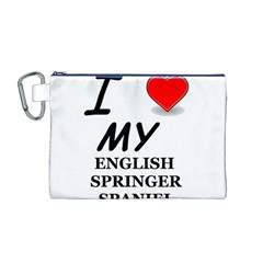 Eng Spr Sp Love Canvas Cosmetic Bag (M)