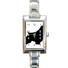 English Springer Spaniel Silo Black Rectangle Italian Charm Watch