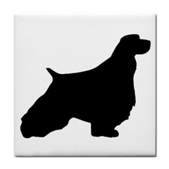 English Springer Spaniel Silo Black Tile Coasters