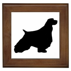 English Springer Spaniel Silo Black Framed Tiles
