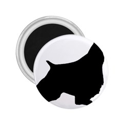 English Springer Spaniel Silo Black 2.25  Magnets