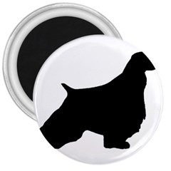 English Springer Spaniel Silo Black 3  Magnets