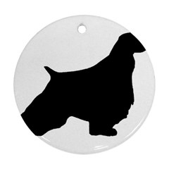 English Springer Spaniel Silo Black Ornament (Round)